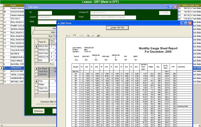 oil and gas production software